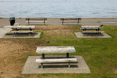 Picnic Tables Royalty Free Stock Photography