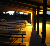 Picnic tables After hours Royalty Free Stock Photos