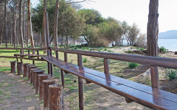 Picnic tables in Mugoni Stock Photography