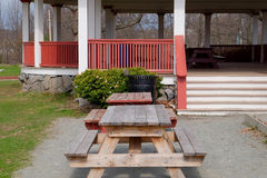 Picnic Tables and Pavilion Stock Photography