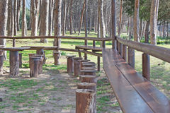Picnic tables Stock Photos