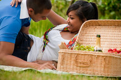 Picnic temptation stock photos