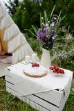 Picnic in a tent Royalty Free Stock Images
