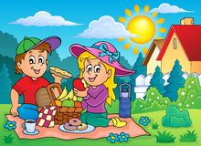 Picnic theme image 2 Royalty Free Stock Photo