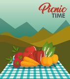 Picnic time design Stock Photography