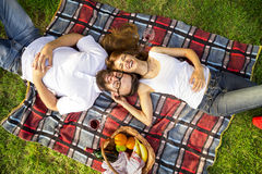 On a picnic Stock Photography