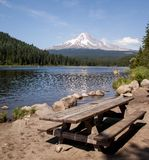 Picnic at Trillium Lake Stock Photos