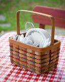 Picnic Utensil Basket Stock Photography