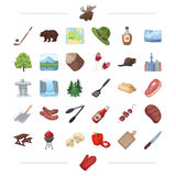 Picnic, walk, business and other web icon in cartoon style.  Stock Photography