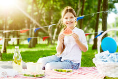 Picnic on weekend stock photo
