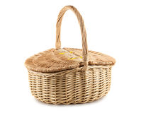 Free Picnic Wicker Basket Royalty Free Stock Photography - 48943947