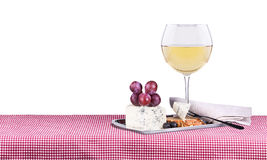Picnic with wine and food Royalty Free Stock Photos
