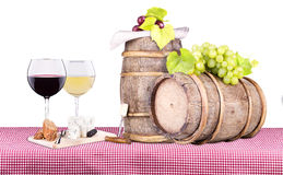 Picnic with wine and food Royalty Free Stock Photography