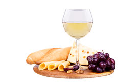 Picnic with wine and food Royalty Free Stock Image