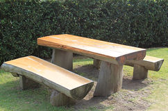 Picnic Wooden Table Royalty Free Stock Images