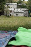 Picnick w Tuscany Garfagnana, Campocatino, Apuan Alps, Lucca zdjęcia stock