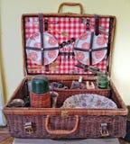 Picnik suitcase Royalty Free Stock Photos