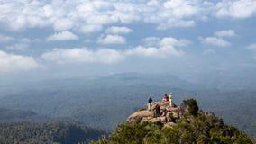 Picnin Rock 3600 m, Kilimanjaro hiking Royalty Free Stock Photos