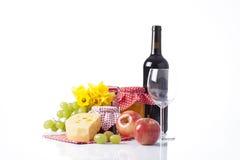 Picninc del verano con el vino Foto de archivo libre de regalías