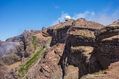 Pico做Arieiro,马德拉岛 免版税图库摄影