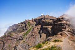 Pico做Arieiro,马德拉岛 库存图片
