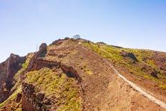 Pico做Arieiro,马德拉岛 免版税库存照片