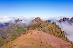 Pico做Arieiro -多山风景 免版税库存图片
