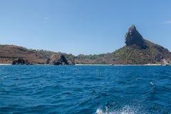 Pico小山费尔南多・迪诺罗尼亚群岛巴西 库存图片
