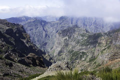 Pico arieiro on madeira island in the clouds Stock Image
