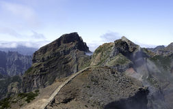 Pico arieiro on madeira island Royalty Free Stock Image