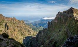 Pico Arieiro and Ruivo hike Stock Image