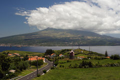 Pico on Azores. The view to the Pico on Azores stock image