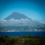 Pico in the Azores. View on Pico from Faial island in the Azores stock photography