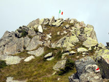 Pico característico de Cima Zeledria en las dolomías de Brenta, que Foto de archivo libre de regalías