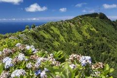 Pico da Barrosa, Sao Miguel, de Eilanden van de Azoren Royalty-vrije Stock Fotografie