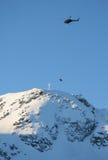 Pico da grua de helicóptero imagens de stock