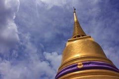 Pico da montagem dourada Imagem de Stock Royalty Free
