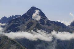 Pico da montanha francesa Roche de la Muzelle fotos de stock royalty free