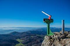 Pico da parte superior da montanha de Aizkorri perto de Zegama Fotos de Stock
