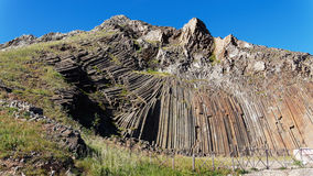 Pico de Ana Ferreira en Oporto Santo, islas de Madeira Imagen de archivo libre de regalías
