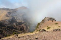Pico De Aveiro Madeira. The magic created by the clouds on the top of Pico Aveiro Stock Photos