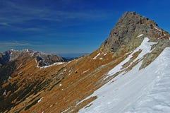 Pico de Beskid en las montañas de Tatra Fotos de archivo libres de regalías