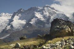 Pico de Breithorn Fotos de archivo