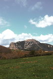 Pico de Bugarach en el Corbieres, Francia fotos de archivo libres de regalías
