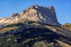 Pico de Bure en el macizo de Devoluy Montañas, Francia imágenes de archivo libres de regalías