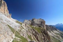 Pico de Catinaccio - de Mugoni imágenes de archivo libres de regalías