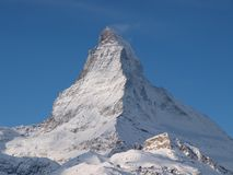 Pico de Cervino en Zermatt, Suiza Fotografía de archivo