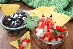 Pico de gallo and black bean salsa Royalty Free Stock Images