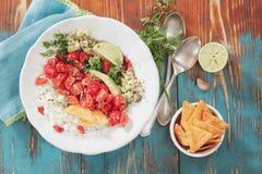Pico de Gallo, fresh Mexican salsa Royalty Free Stock Images
