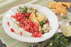Pico de Gallo, fresh Mexican salsa stock photo